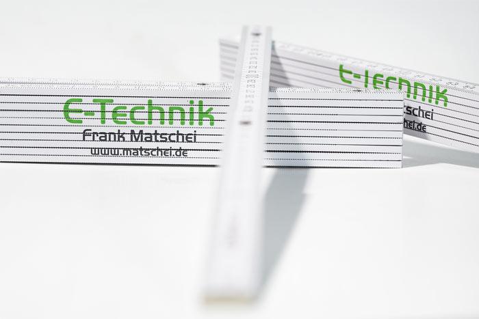 Werbeartikel gestalten - Zollstock